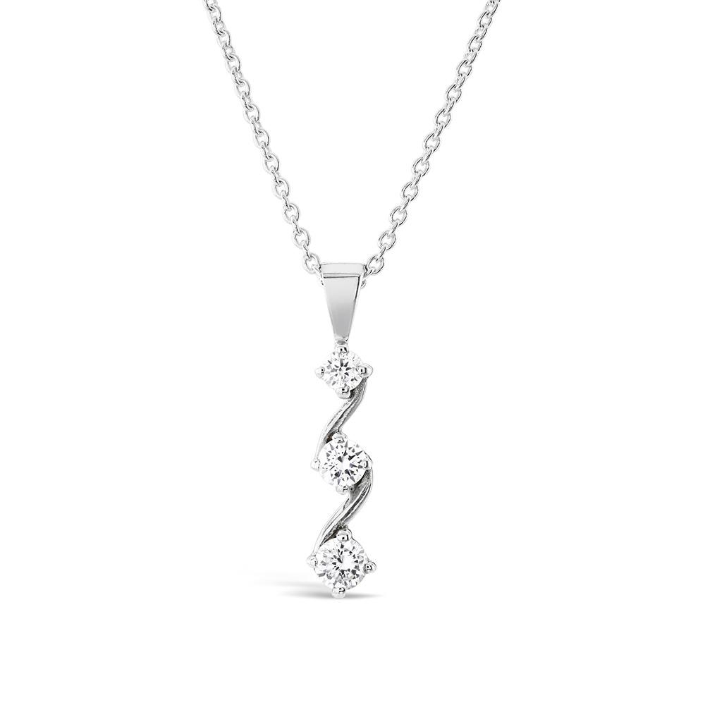 Diamond trilogy pendant 18 inch chain 050ct kensington jewellery diamond trilogy pendant 18 inch chain 050ct aloadofball Choice Image