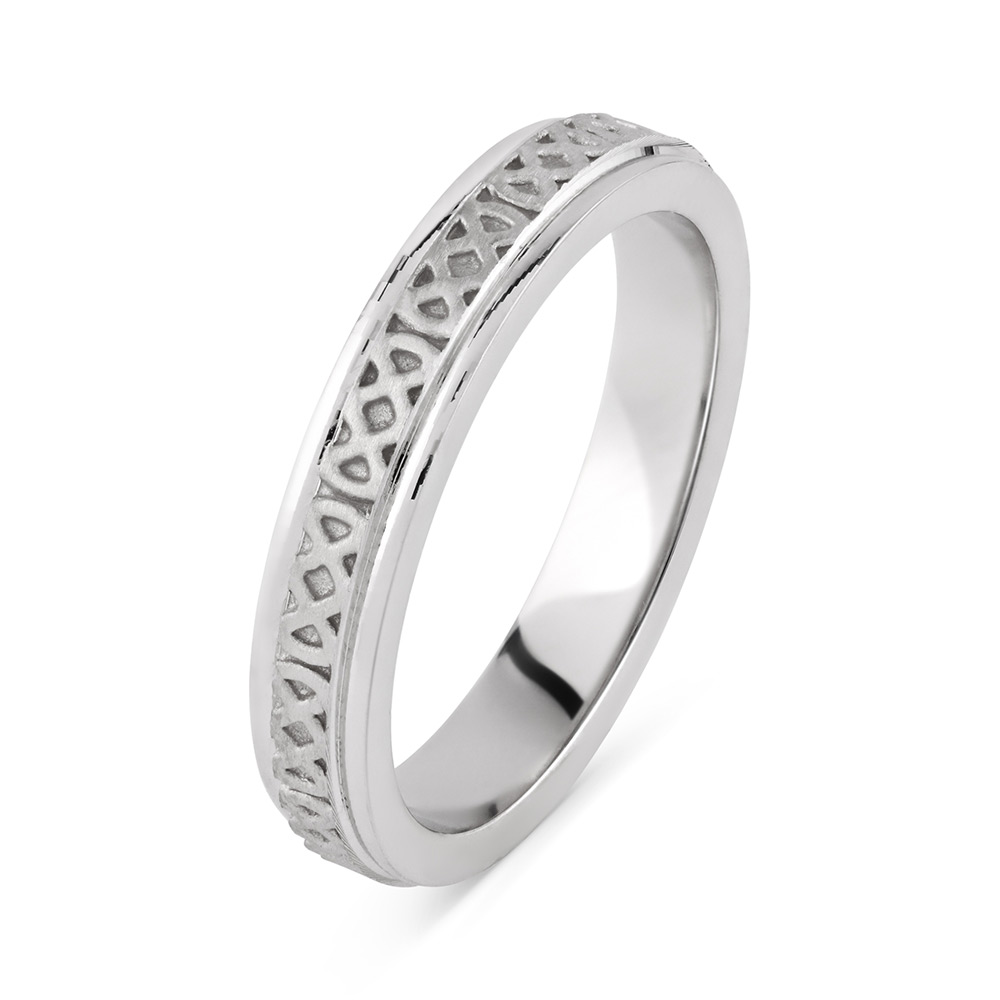 modern unique knot celtic style rings ring silver braid irish engagement with wedding